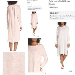 Nwot Caara S Rata Linen Shift Dress blush color